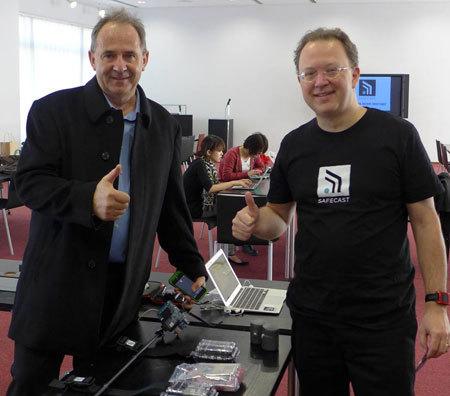 ダン・サイスさん(左)とピーテル・フランケンさん(右)